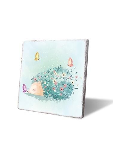 LWP Shop Neşeli kirpi ve kelebekler Bardak Altlığı Renkli